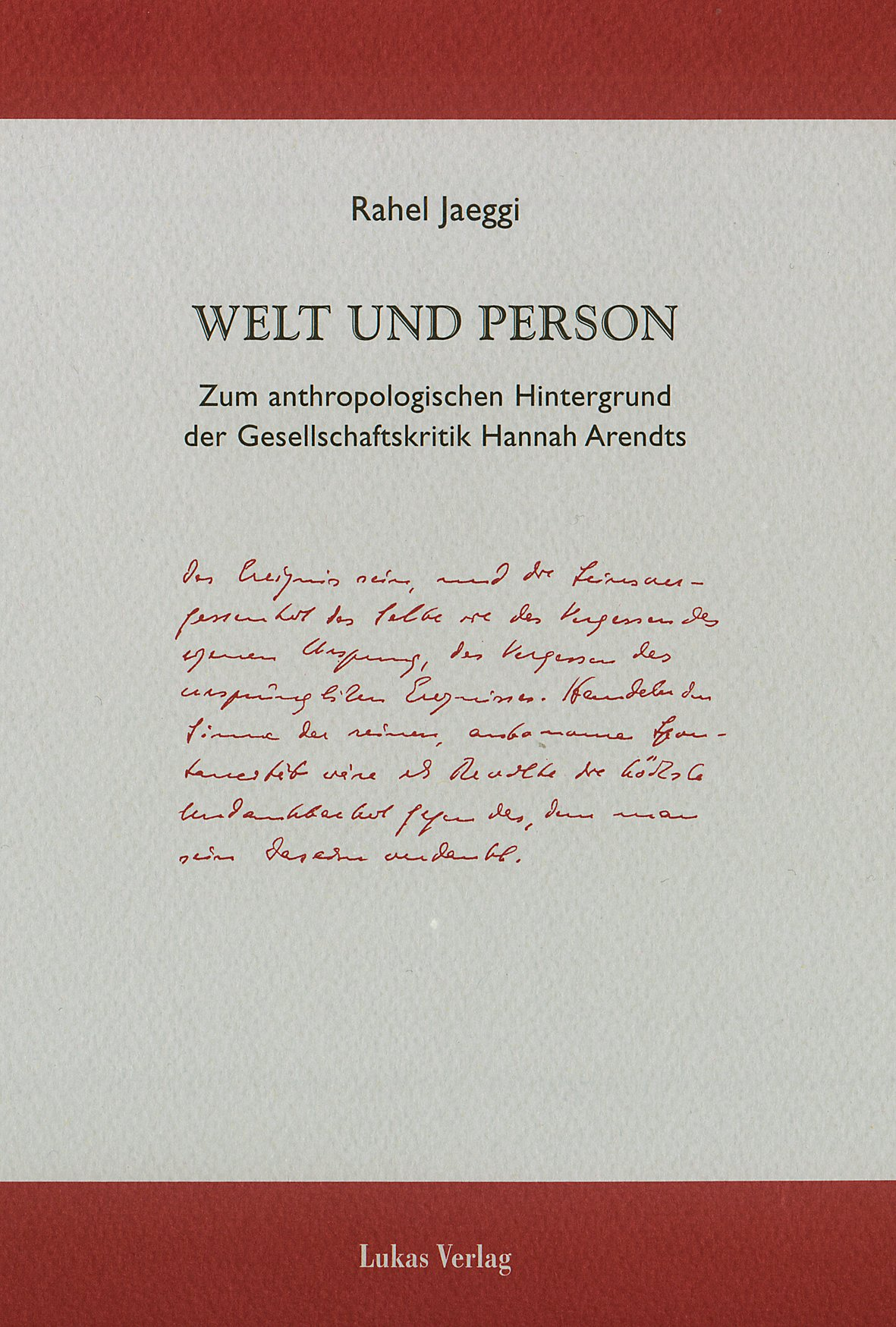 Welt und Person